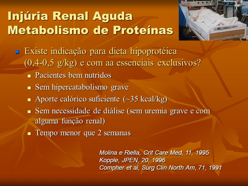 Injúria Renal Aguda Metabolismo de Proteínas