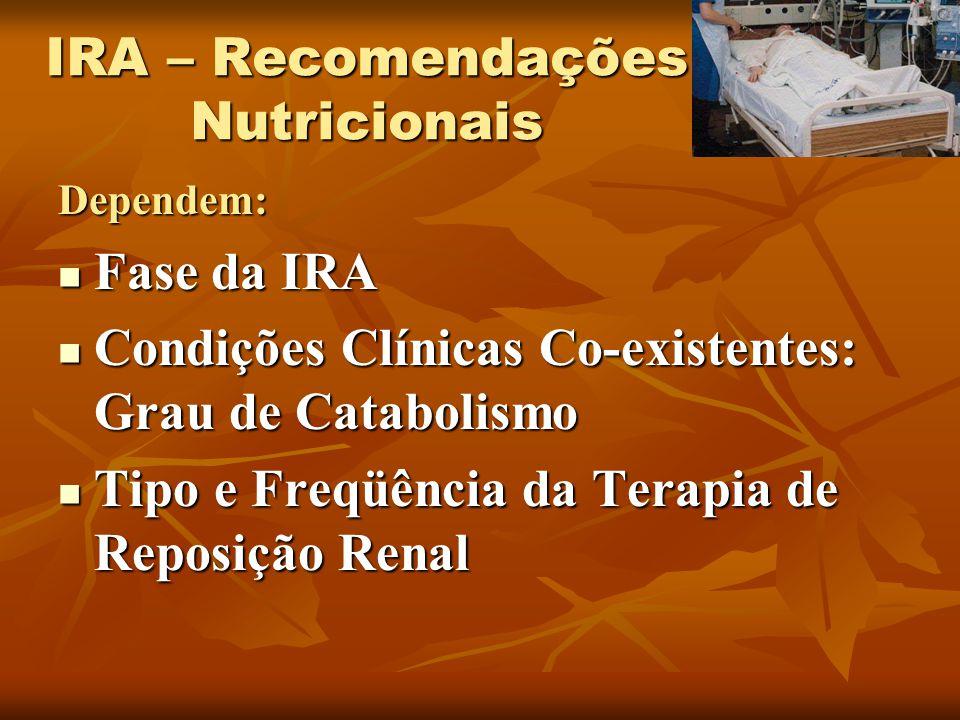 IRA – Recomendações Nutricionais