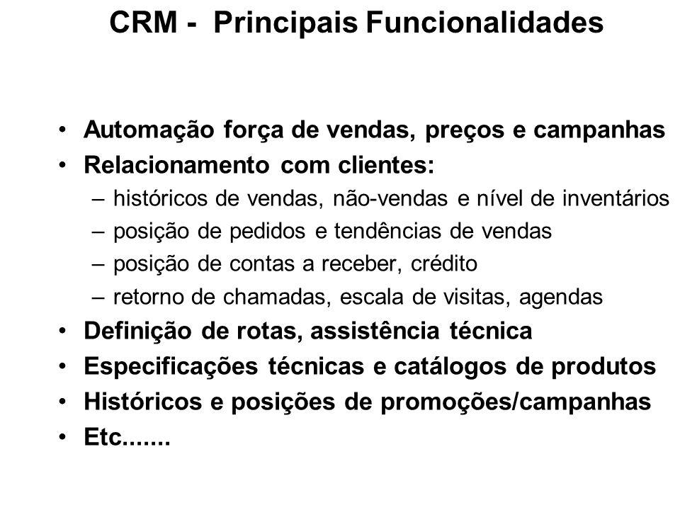 CRM - Principais Funcionalidades