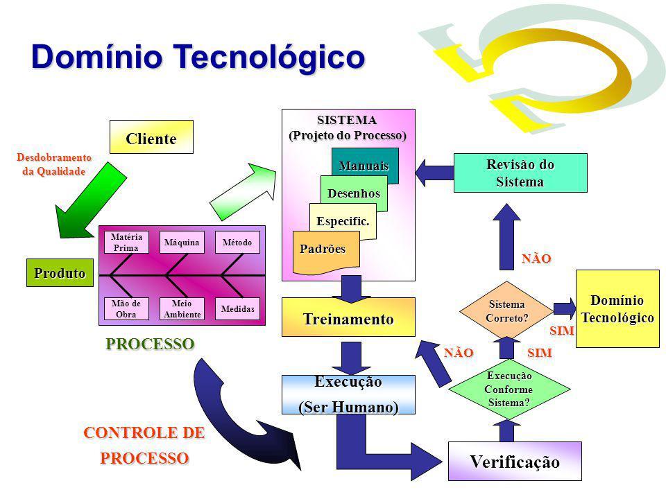 Domínio Tecnológico Verificação Cliente Treinamento PROCESSO Execução