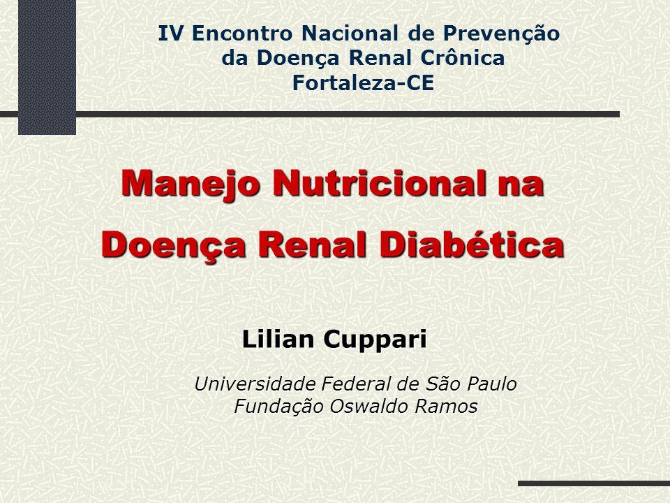 Manejo Nutricional na Doença Renal Diabética