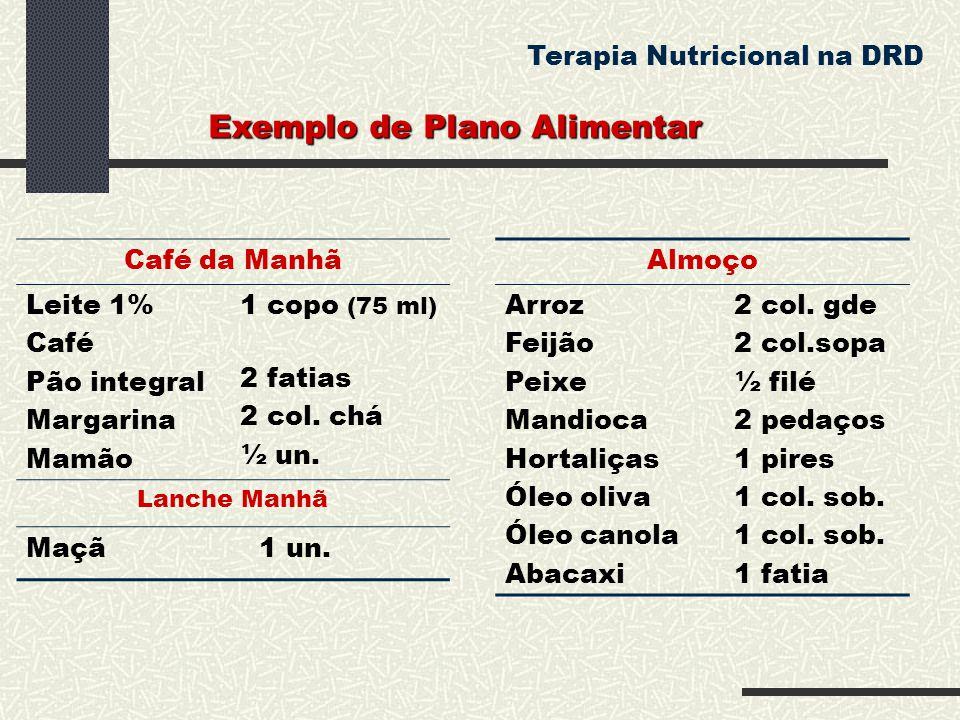 Exemplo de Plano Alimentar