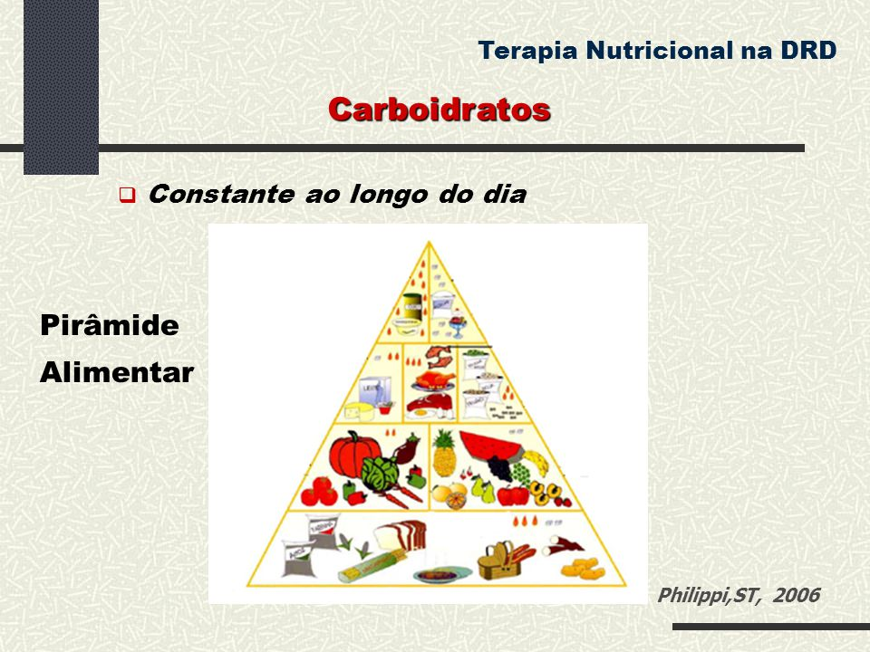 Carboidratos Pirâmide Alimentar Terapia Nutricional na DRD