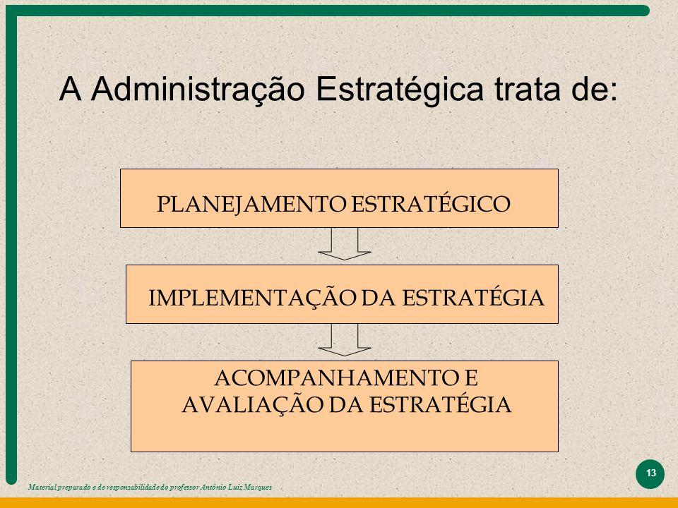 A Administração Estratégica trata de: