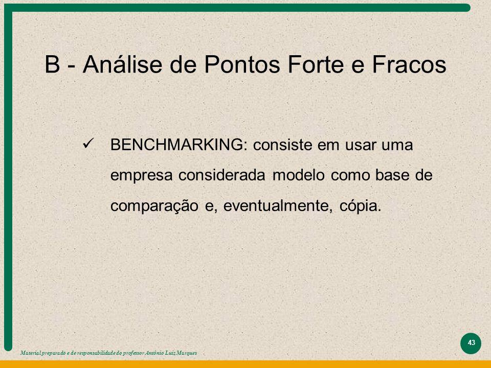 B - Análise de Pontos Forte e Fracos