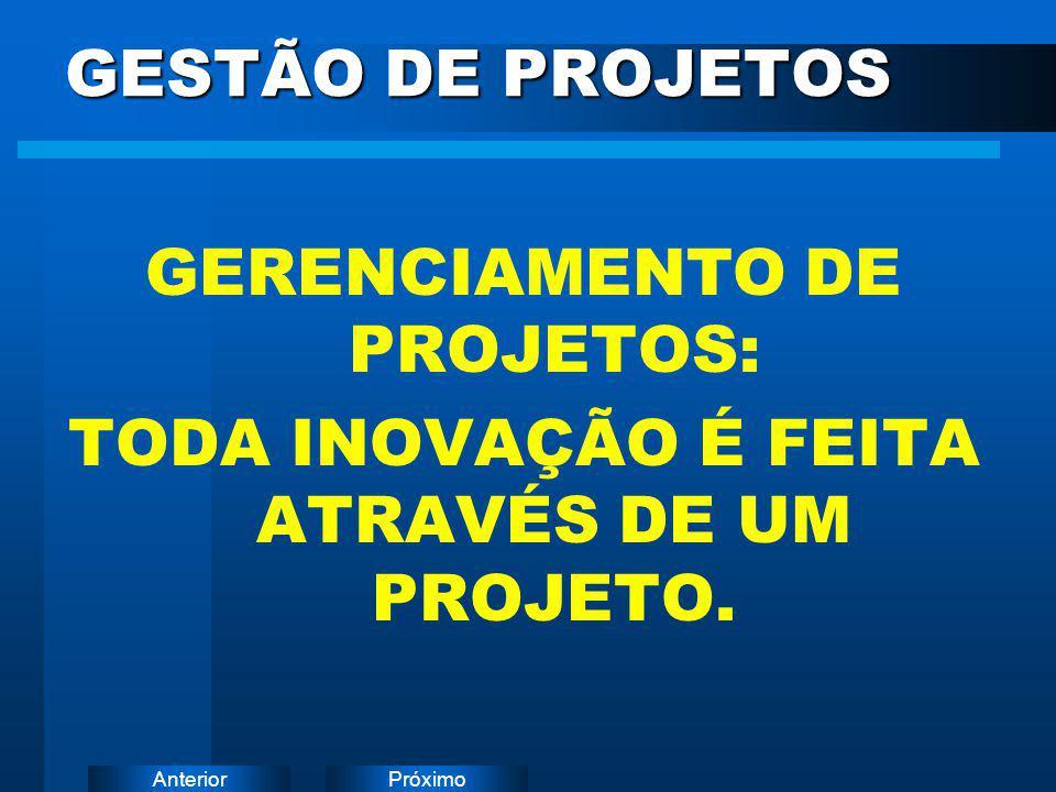 GERENCIAMENTO DE PROJETOS: