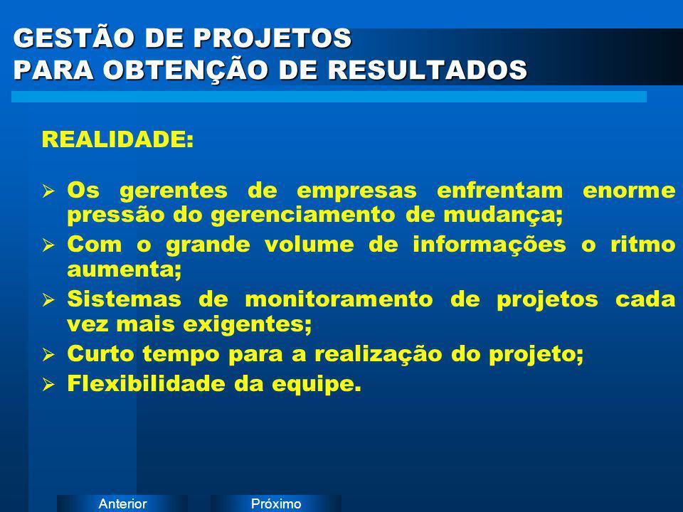 GESTÃO DE PROJETOS PARA OBTENÇÃO DE RESULTADOS