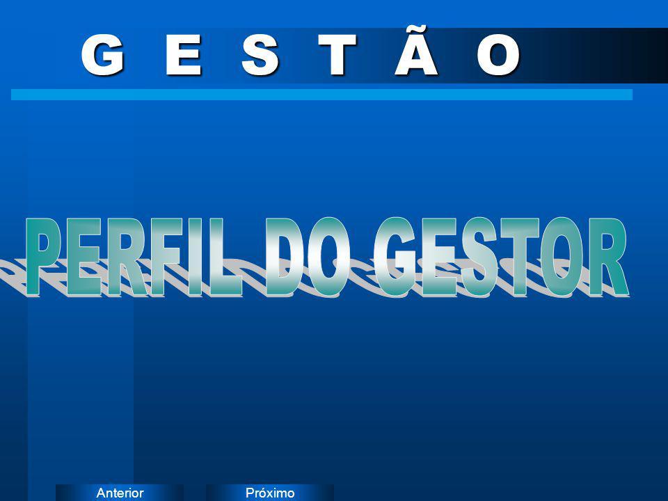 G E S T Ã O PERFIL DO GESTOR