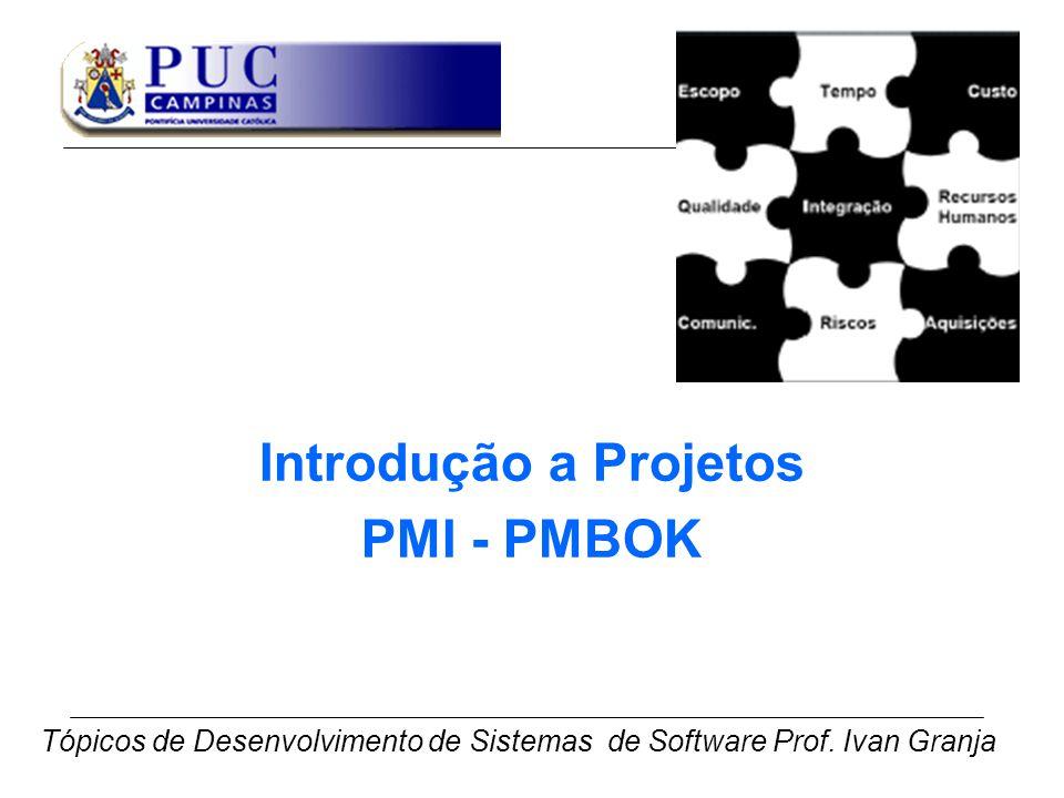 Introdução a Projetos PMI - PMBOK