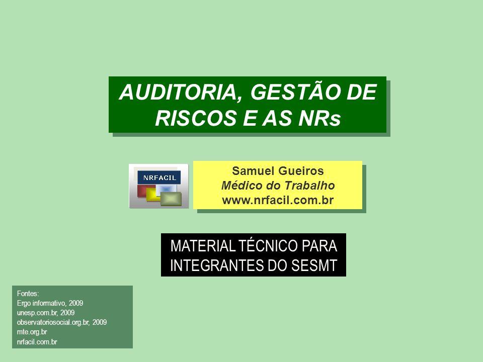 AUDITORIA, GESTÃO DE RISCOS E AS NRs