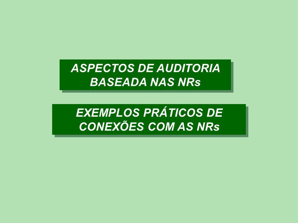 ASPECTOS DE AUDITORIA BASEADA NAS NRs