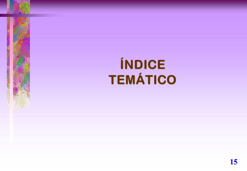 ÍNDICE TEMÁTICO 15