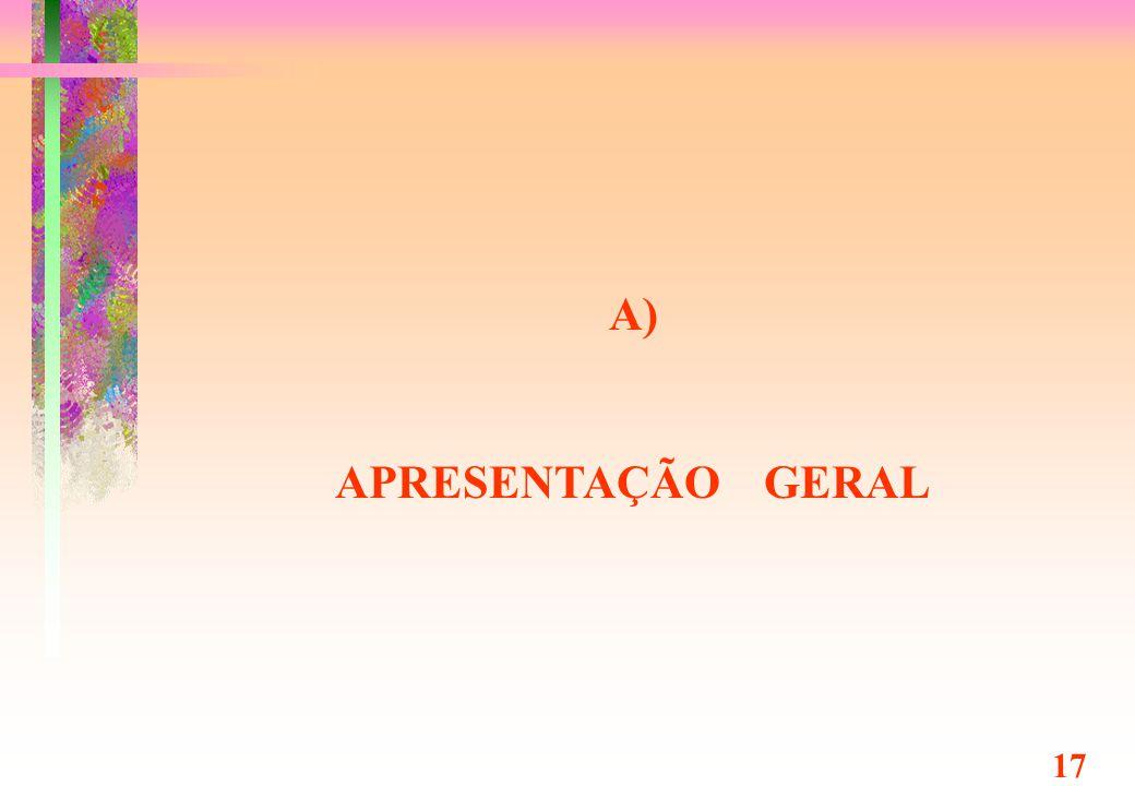 A) APRESENTAÇÃO GERAL 17 Prof. Dr. Tibor Simcsik