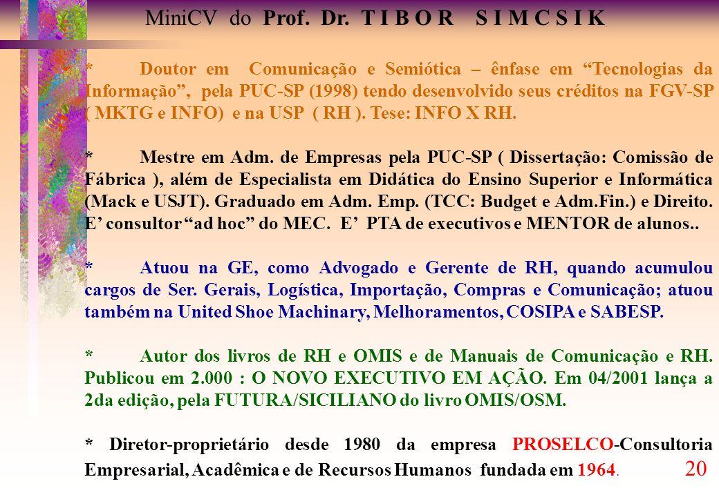 MiniCV do Prof. Dr. T I B O R S I M C S I K