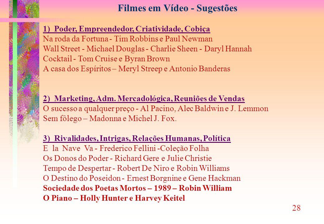 Filmes em Vídeo - Sugestões
