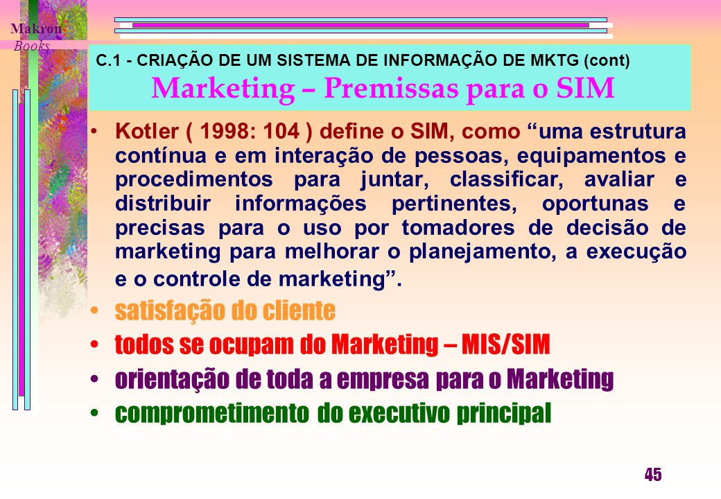 todos se ocupam do Marketing – MIS/SIM