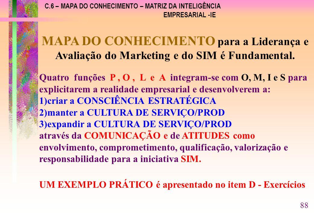 C.6 – MAPA DO CONHECIMENTO – MATRIZ DA INTELIGÊNCIA EMPRESARIAL -IE