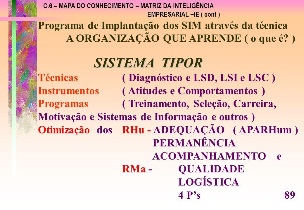 SISTEMA TIPOR Programa de Implantação dos SIM através da técnica