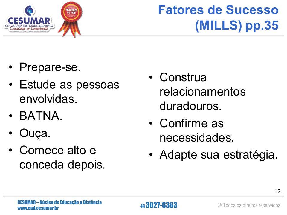 Fatores de Sucesso (MILLS) pp.35