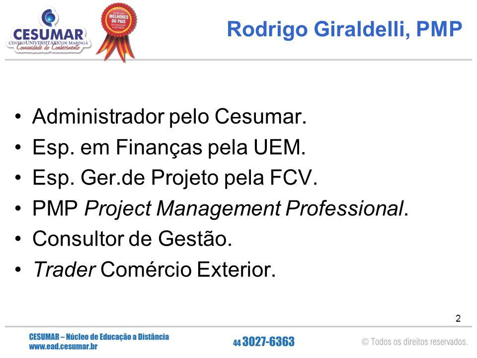 Rodrigo Giraldelli, PMP