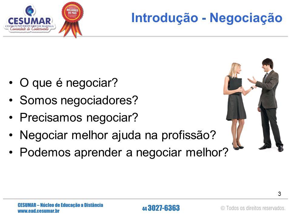 Introdução - Negociação