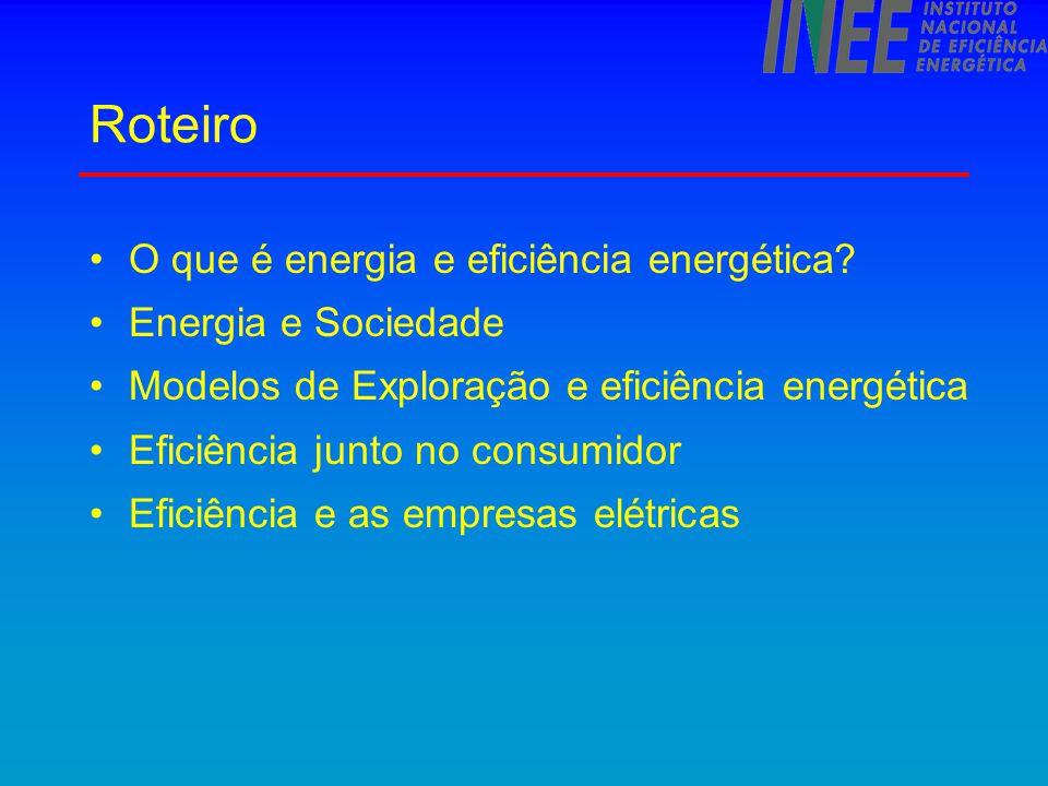 Roteiro O que é energia e eficiência energética Energia e Sociedade