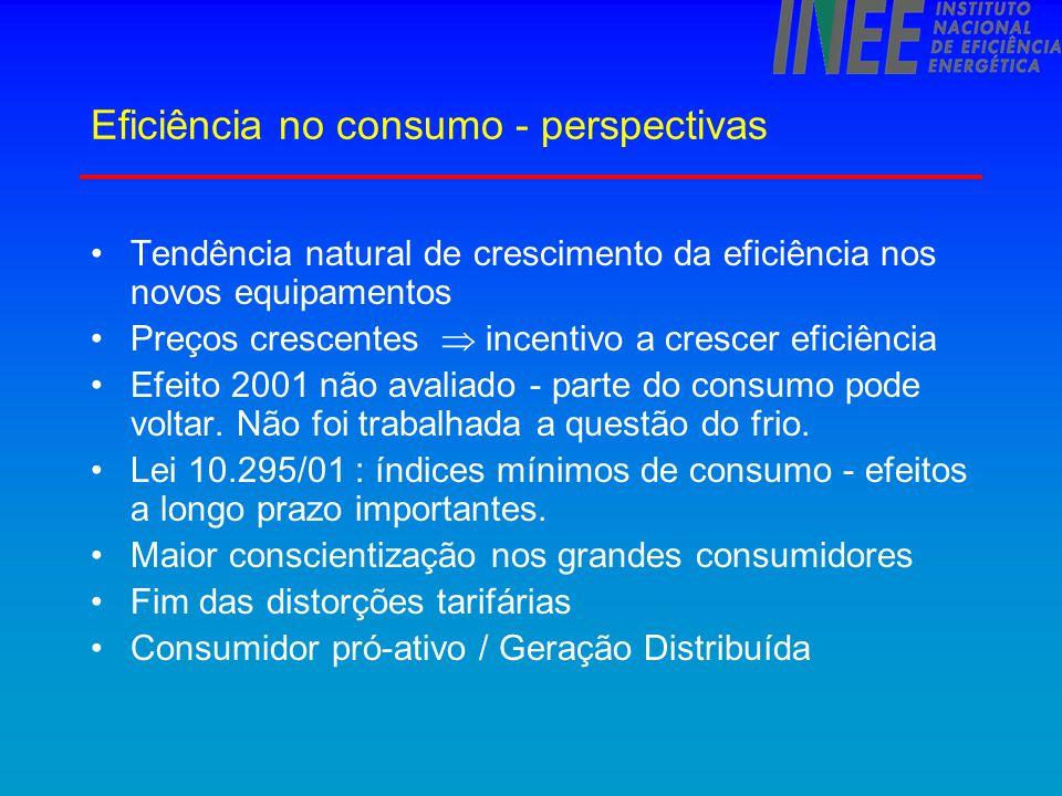 Eficiência no consumo - perspectivas