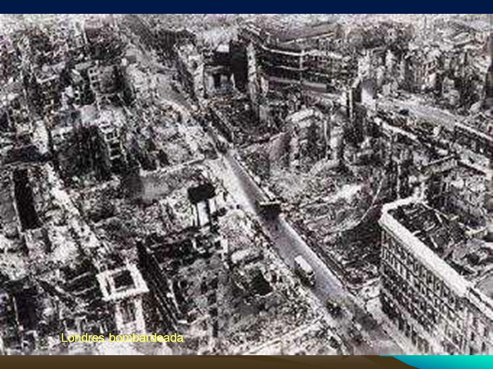 Londres bombardeada