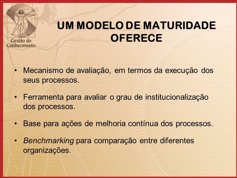 UM MODELO DE MATURIDADE OFERECE