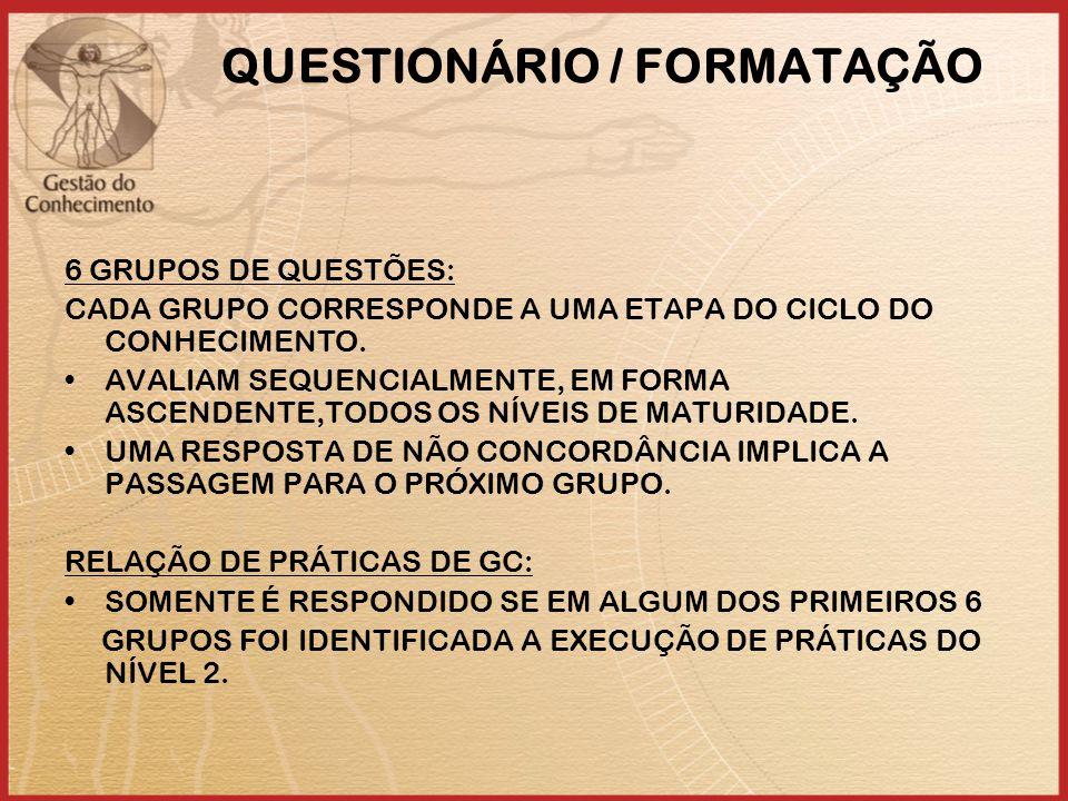 QUESTIONÁRIO / FORMATAÇÃO