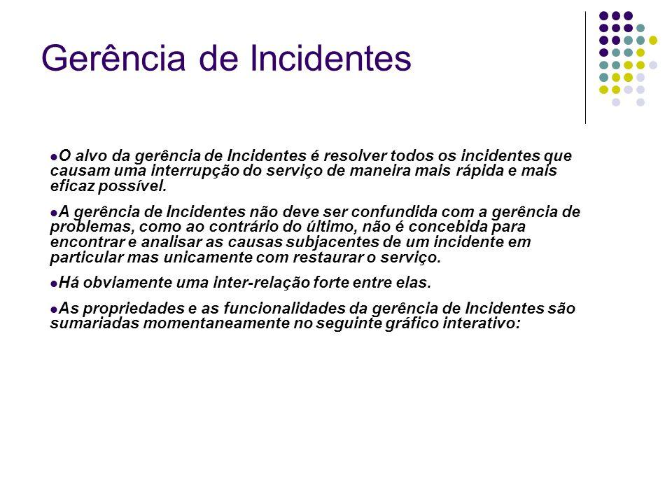 Gerência de Incidentes