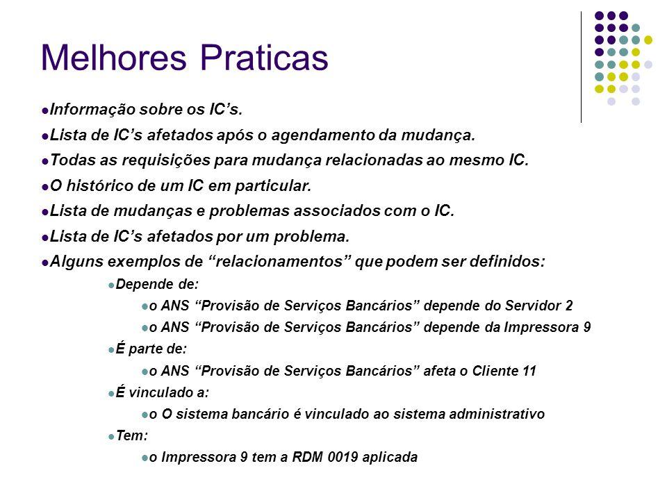 Melhores Praticas Informação sobre os IC's.