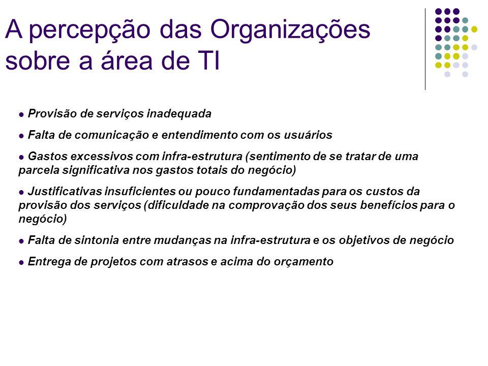 A percepção das Organizações sobre a área de TI