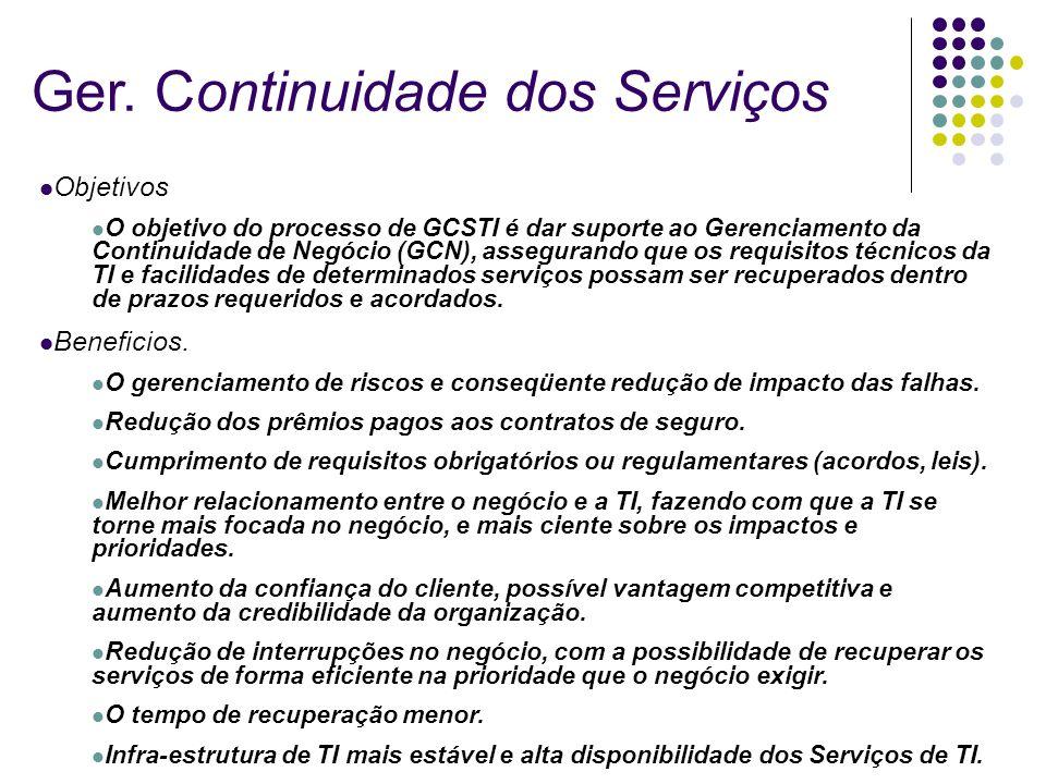 Ger. Continuidade dos Serviços