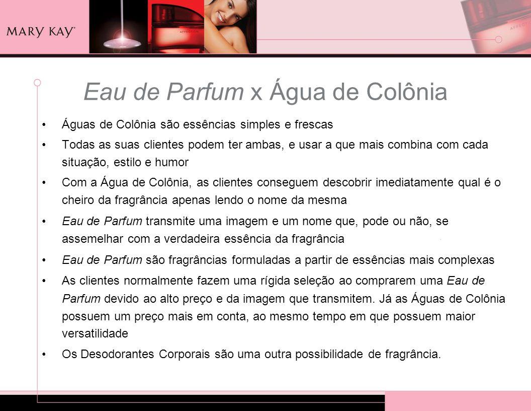 Eau de Parfum x Água de Colônia