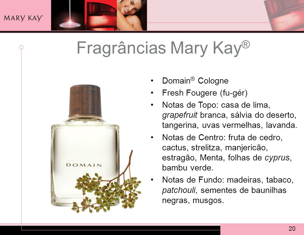 Fragrâncias Mary Kay® Domain® Cologne Fresh Fougere (fu-gér)