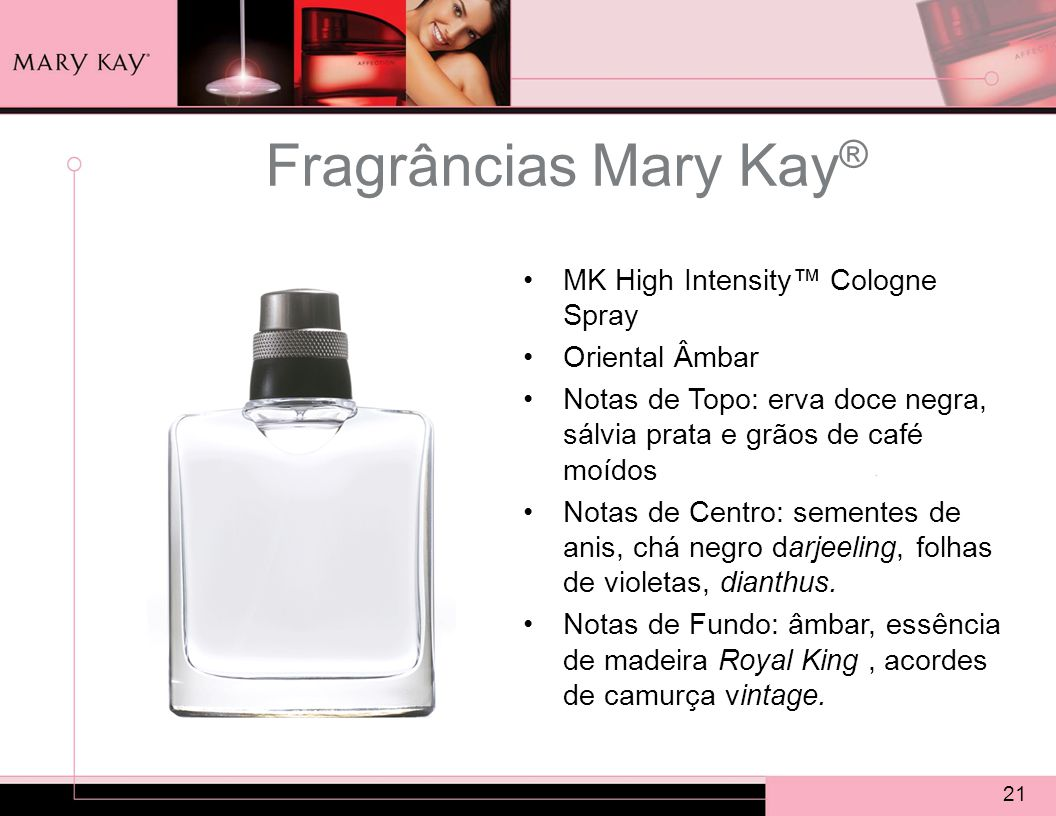 Fragrâncias Mary Kay® MK High Intensity™ Cologne Spray Oriental Âmbar