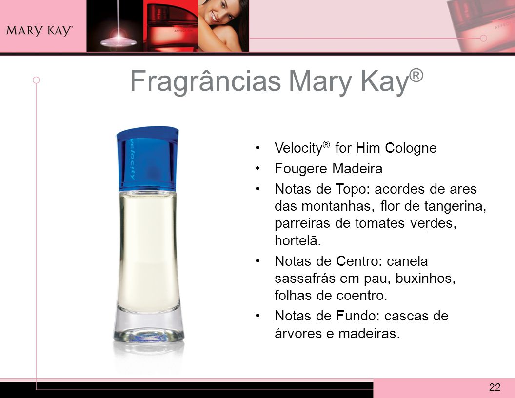 Fragrâncias Mary Kay® Velocity® for Him Cologne Fougere Madeira