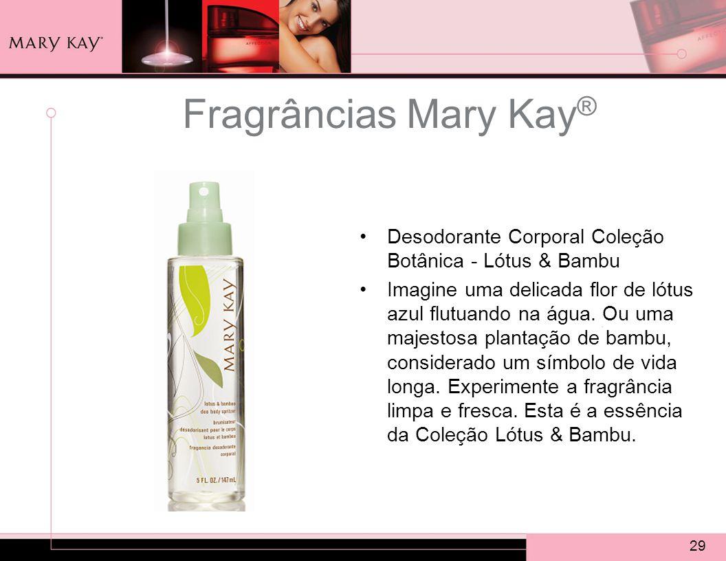 Fragrâncias Mary Kay® Desodorante Corporal Coleção Botânica - Lótus & Bambu.