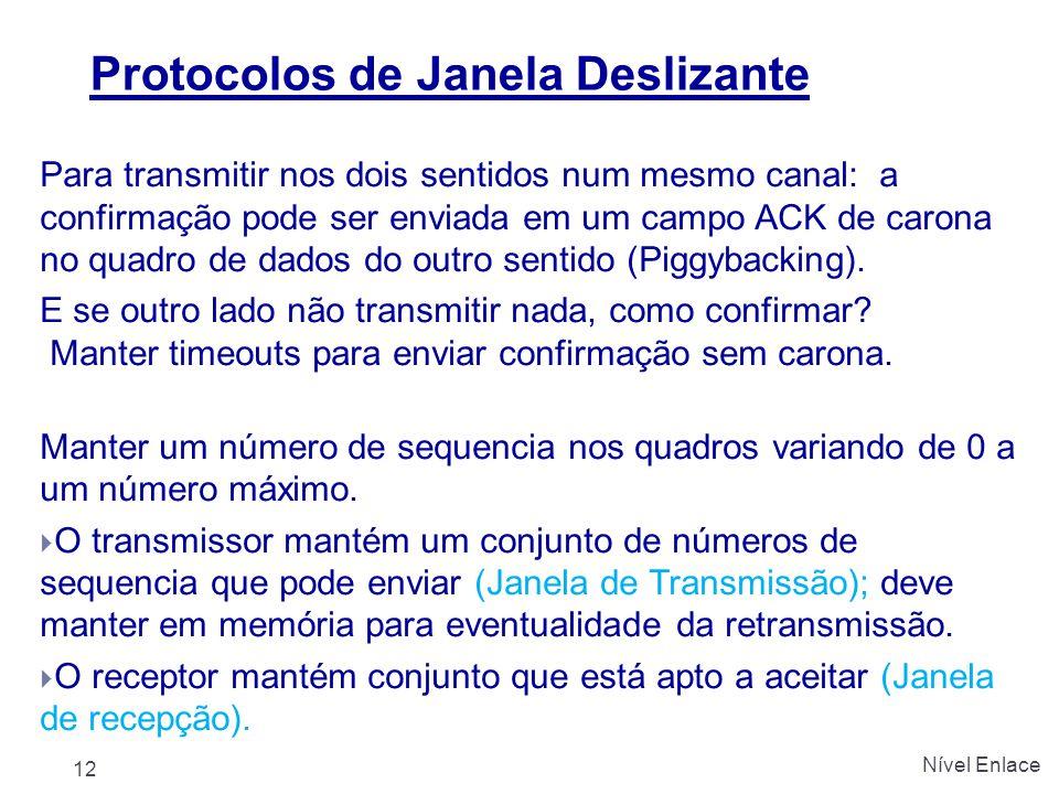 Protocolos de Janela Deslizante