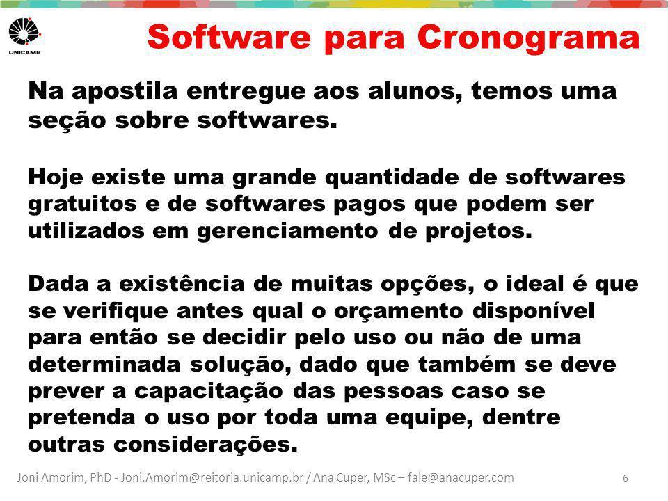 Software para Cronograma
