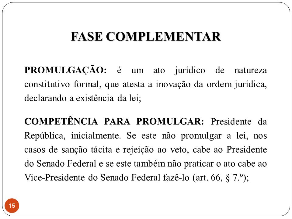 FASE COMPLEMENTAR