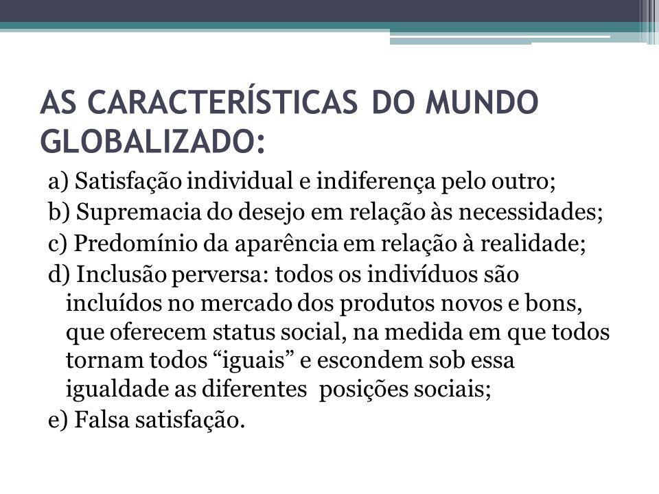 AS CARACTERÍSTICAS DO MUNDO GLOBALIZADO: