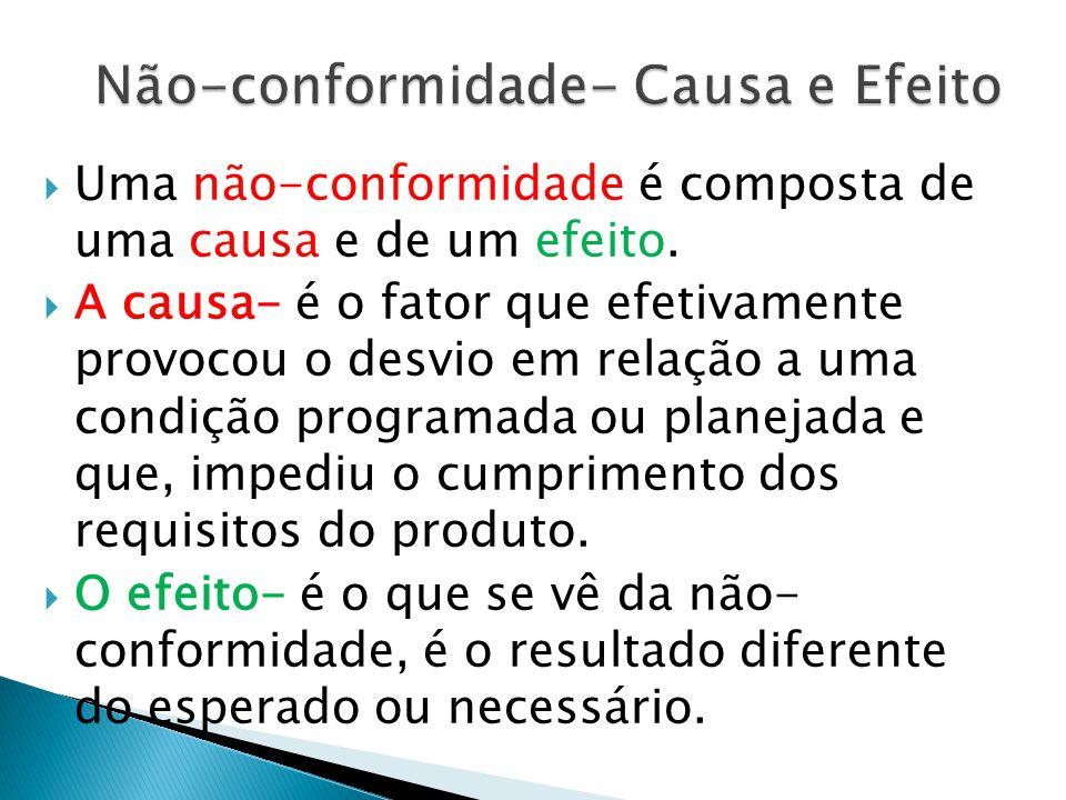 Não-conformidade- Causa e Efeito