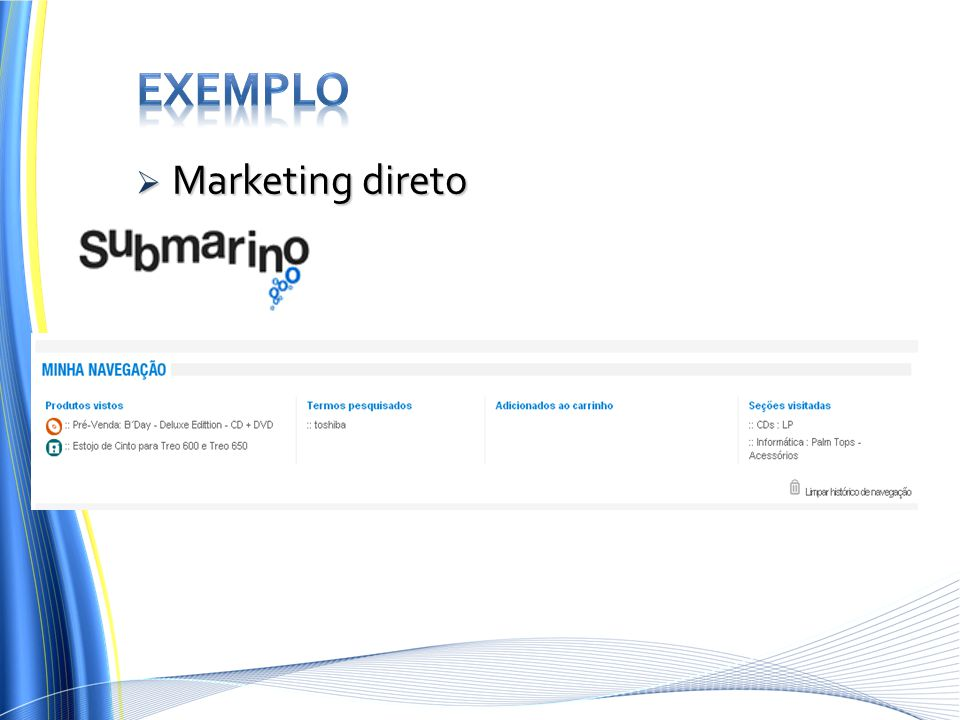 Exemplo Marketing direto