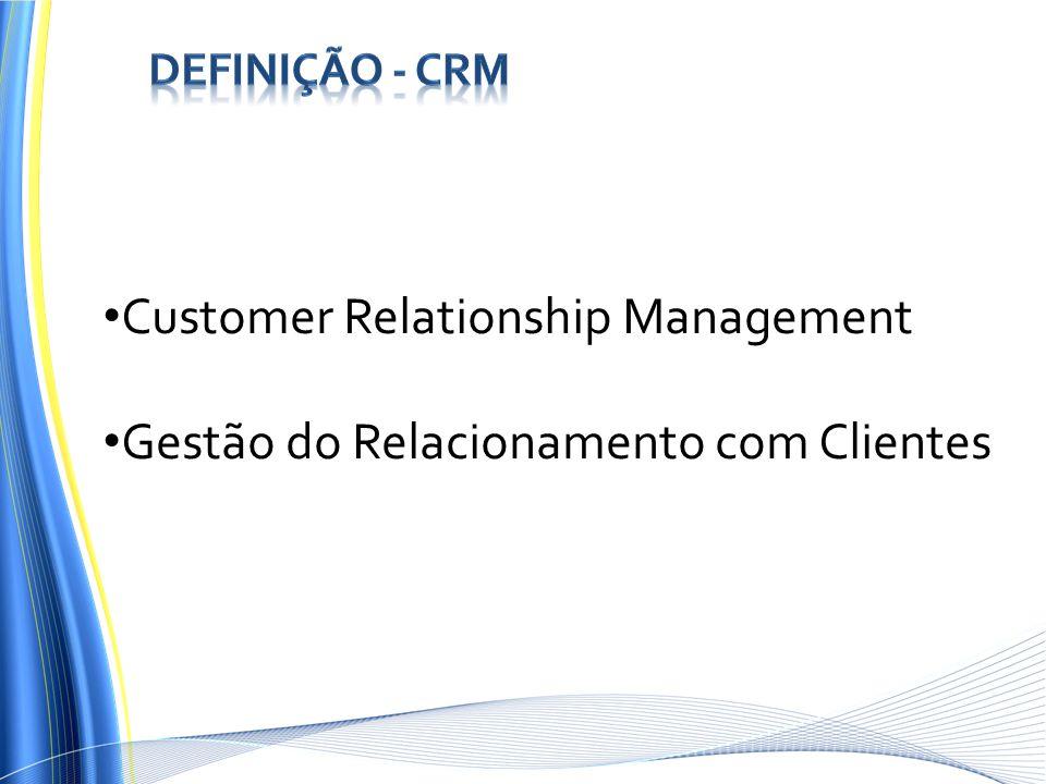 Customer Relationship Management Gestão do Relacionamento com Clientes