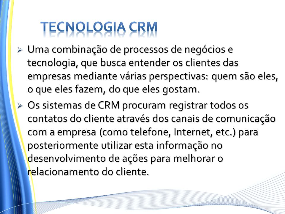 Tecnologia CRM
