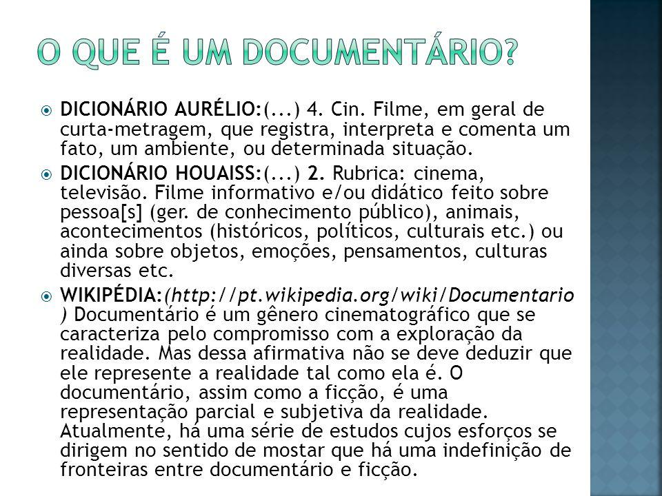 O que é um documentário