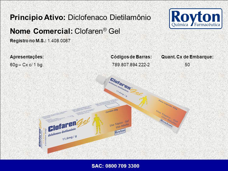 Principio Ativo: Diclofenaco Dietilamônio