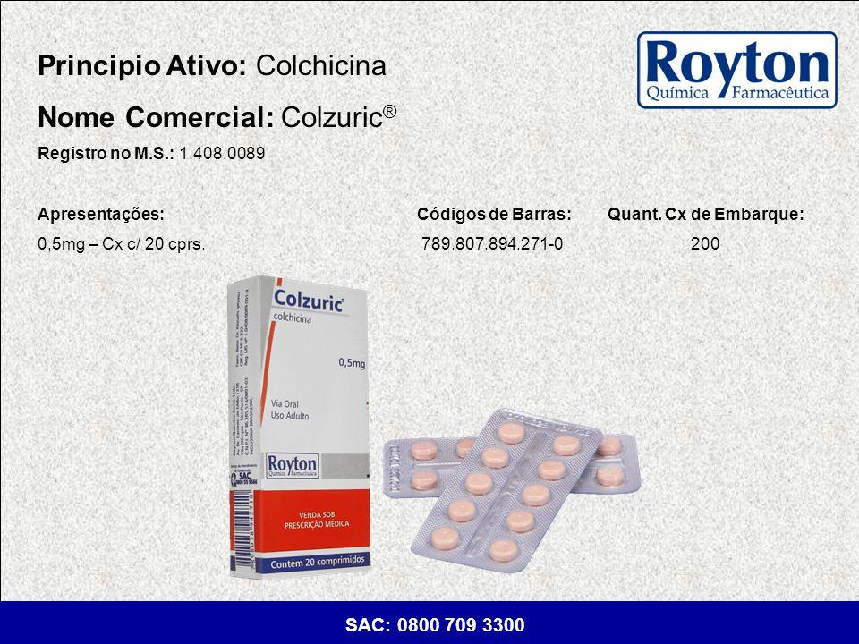 Principio Ativo: Colchicina Nome Comercial: Colzuric®